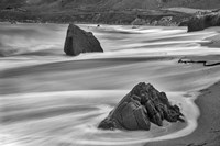 Garrapata Beach Coastal Boulders (BW) Fine-Art Print