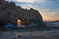 Arch's Last Light At Pfeiffer Beach Fine-Art Print