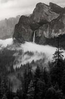 Bridal Veil Falls, Yosemite NP (BW) Fine-Art Print