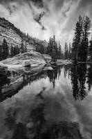 Reflective Lake At Yosemite NP (BW) Fine-Art Print