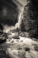 Lower Yosemite Falls, Yosemite National Park (BW) Fine-Art Print