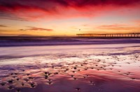 Sunset Over Ventura Pier From San Buenaventura State Beach Fine-Art Print