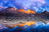 Dusk On The Palisades In Dusy Basin, Kings Canyon National Park Fine-Art Print