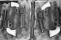 Guns On Display For A Cowboy Mounted Shooting Competition Fine-Art Print