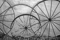Old Metal Wagon Wheels (BW) Fine-Art Print