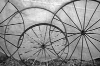 Old Metal Wagon Wheels (BW) Fine-Art Print