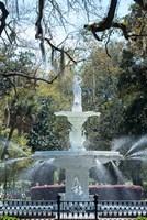 Fountain In Forsyth Park, Savannah, Georgia Fine-Art Print