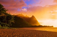 Evening Light On Na Pali Coast Spires, Island Of Kauai, Hawaii Fine-Art Print