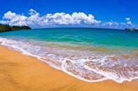 Blue Waters On Hanalei Bay, Island Of Kauai, Hawaii Fine-Art Print