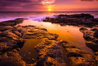 Sunset And Tide Pool Above The Pacific, Kailua-Kona, Hawaii Fine-Art Print