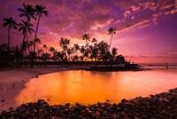 Sunset Over Pu'uhonua O Honaunau National Historic Park, Hawaii Fine-Art Print