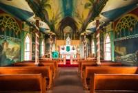 Interior Of St Benedict's Painted Church, Hawaii Fine-Art Print