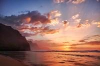 Sunset Along The Coast Of Kauai, Hawaii Fine-Art Print