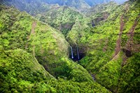 Waterfalls Of Kauai, Hawaii Fine-Art Print