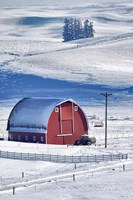 Snow-Covered Barn, Idaho Fine-Art Print