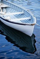 Dinghy Moored At Dock, Rockport, Maine Fine-Art Print
