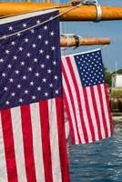 US Flag At The Annual Schooner Festival Fine-Art Print