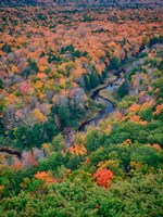 Big Carp River, Porcupine Mountains Wilderness State Park, Michigan Fine-Art Print