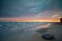 Solitary Boulder On A Beach Of Lake Superior, Michigan Fine-Art Print