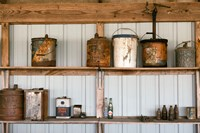 Rusted Antique Metal Cans, Route 66 Fine-Art Print