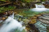 Cascade On Baring Creek, Glacier National Park, Montana Fine-Art Print