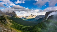 Panorama Of Logan Pass, Glacier National Park, Montana Fine-Art Print