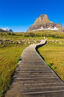 Hidden Lake Trail At Logan Pass, Glacier National Park, Montana Fine-Art Print