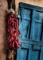 Hanging Chili Peppers, New Mexico Fine-Art Print