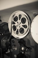Vintage Film Projector At The Kimo Theater, New Mexico Fine-Art Print