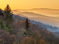 Sunrise From The Oconaluftee Valley Overlook, North Carolina Fine-Art Print