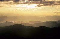 Sunset Mountains Along Blue Ridge Parkway, North Carolina Fine-Art Print