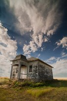 Abandoned Township Hall On The North Dakota Prairie Fine-Art Print