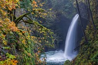 Autumn At Metlako Falls On Eagle Creek, Oregon Fine-Art Print