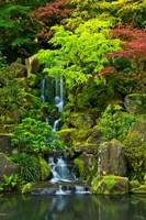 Heavenly Falls, Portland Japanese Garden, Oregon Fine-Art Print