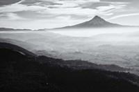 Smoke In The Hood River Valley, Oregon (BW) Fine-Art Print