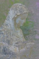 Pastel Abstract Statue Of The Madonna Fine-Art Print