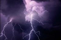 Composite Of Cloud-To-Cloud Lightning Bolts Fine-Art Print