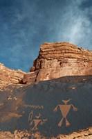 Duck Headed Man Petroglyph, Cedar Mesa, Utah Fine-Art Print