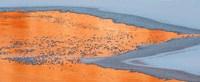 Colorado River Ice And Canyon Wall Reflections, Moab, Utah Fine-Art Print