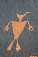 Detail Of A Duck Headed Man Petroglyph, Utah Fine-Art Print