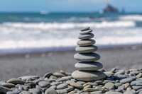 Stacked Beach Rocks, Washington State Fine-Art Print