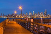 Seacrest Park Fishing Pier, With Skyline View Of West Seattle Fine-Art Print