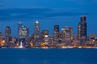 Seattle Skyline View Over Elliott Bay Fine-Art Print