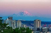Mount Rainier Behind The Seattle Skyline Fine-Art Print
