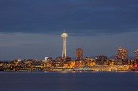 Seattle Skyline At Dusk Fine-Art Print