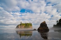 Early Morning Mist And Reflections Of Sea Stacks On Ruby Beach Fine-Art Print