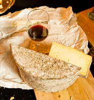 Wine And Artisanal Cheese Event At A Tasting Room Fine-Art Print