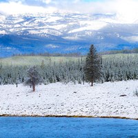 Yellowstone National Park In Winter, Wyoming Fine-Art Print