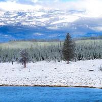 Yellowstone National Park In Winter, Wyoming Fine-Art Print