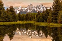 Schwabacher Landing At Sunrise, Wyoming Fine-Art Print